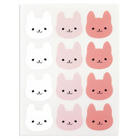 Bunny Face Stickers