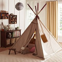 Red Stitch Teepee | Pottery Barn Kids