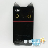 Rilakkuma Kutusitanyanko Cat iPhone 4 3D Case Skin Cover + Screen Protector