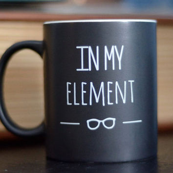 """Periodic Table """"In My Element"""" Mug and Gift Box   Elegant Science Gift   Teacher, Student, Scientist, Engineer, Chemist, Biologist"""