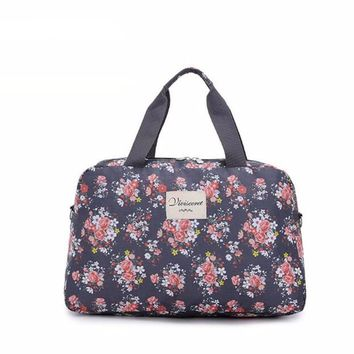 Floral Print Waterproof Gym Bag - Various Colors