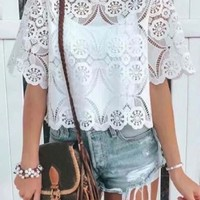 Hollie Lace Top