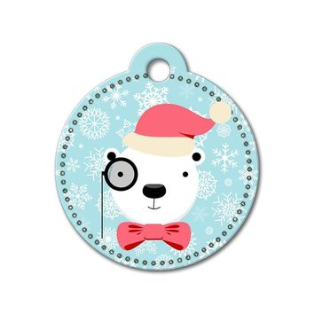 Polar Bear Holiday Dog Tag