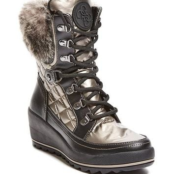 Leland Wedge Snow Bootie at Guess