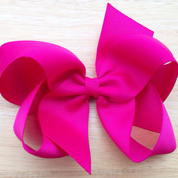 You pick color - 5 inch boutique bow, 5 inch hair bow