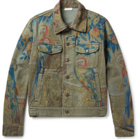 Dries Van Noten - Parrot Tapestry-Print Denim Jacket