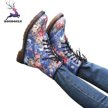 Womens Boots Female Suede Biker Ankle Trim Flat Ankle Warm Martin Boots Shoes Woman Winter Boots botas ug australia mujer
