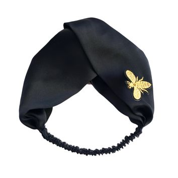 """GUCCI""  Blooms Print Silk Headband  Yan beauty golden bee"
