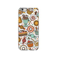 Sweet Food Pattern Transparent Silicone Plastic Phone Case for iphone 6PLUS _ LOKIshop (iphone 6 plus)