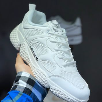 HCXX A1451 Adidas Boost Summer Breathable Mesh Retro Sneakers White