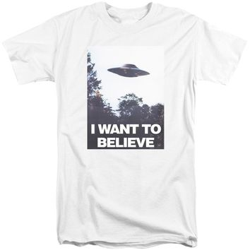 X Files - Believe Poster Short Sleeve Adult Tall Shirt Officially Licensed T-Shirt