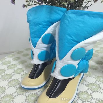 Popular DMMD Dramatical Murder Seragaki Aoba Cosplay Costume Blue Boots Shoes Covers  Free Shipping