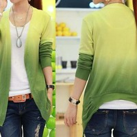 Color Gradient Knitwear Cardigan
