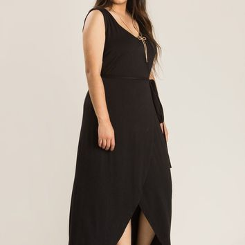 Plus Tanya Black Romper Maxi Dress