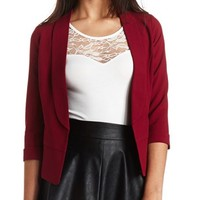 OPEN FRONT CROPPED BLAZER