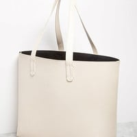 Faux Leather Tote and Pouch