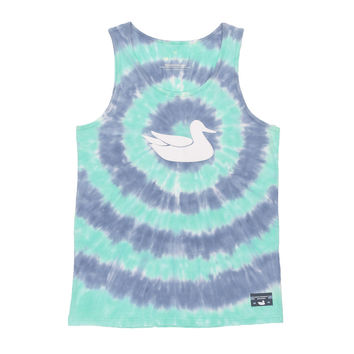 Whitling Target Tie Dye Tank in Slate and Mint by Southern Marsh - FINAL SALE