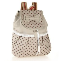 Cute Lace Casual Canvas Bowknot School Backpack