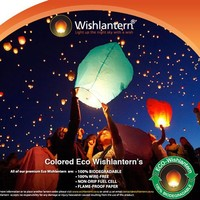 Colored Eco Wishlantern® Pack of 5 (Individually Wrapped)