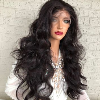 """Purple Burgundy Hair SWISS Lace Front Wig with Multiple Parting 26"""" Celestial Queen 0319 33"""
