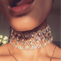 Hot Sale Sexy Diamonds Choker Necklace [9055442755]