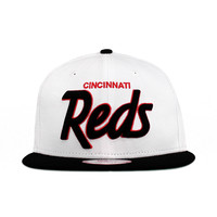 Cincinnati Reds Team Colors The Team Script Snapback 9fifty New Era