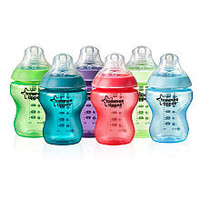 Tommee Tippee Closer To Nature  9 Ounce Fiesta Fun Time Baby Bottles 6 Pack