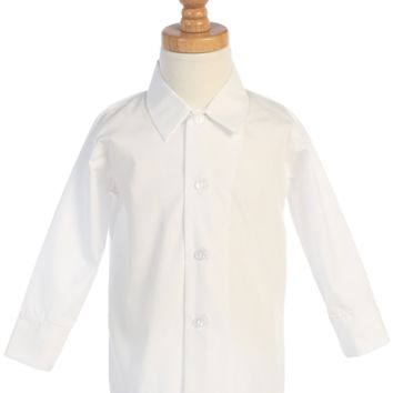 (Sale) Boys Size 6 White Long Sleeve Button Down Dress Shirt