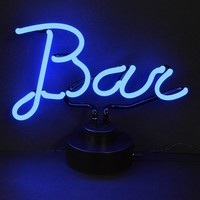 Bar Script Neon Sculpture