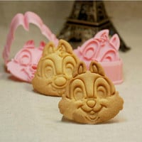Chip N Dale Fondant Toast Cookie Cutter Stencil Stamp Press Mold