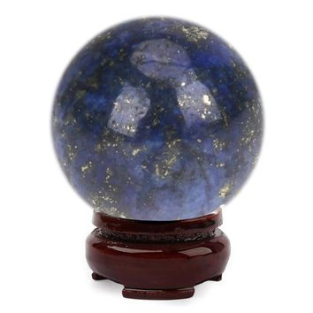 20mm Natural Lapis Lazuli Crystal FeiShui Ball Healing Sphere Large Crystal Healing Stone DIY Home Decoration Accessory