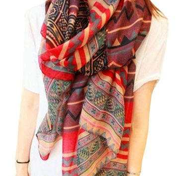 Newest 2017 Fashion Women's Long Scarves Bohemain Style Printed Neck Warmer Scarf Female Wrap Shawl