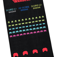 Space Invaders Game Screenshot Printed Rug