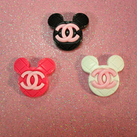 Mickey Mouse Chanel Rings from CherryKreations21