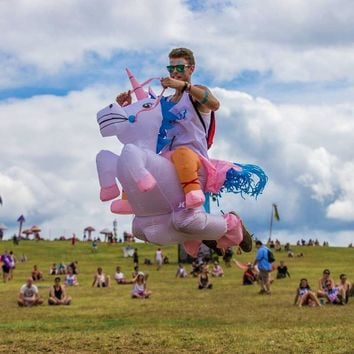 Animal Themed Inflatable UNICORN Costume Fan Blowing Suits Carnival Costumes Halloween Costumes For Women Men Children