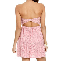 Sweetheart Keyhole Lace Dress | Shop Dresses at Wet Seal