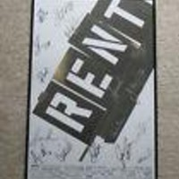 Rent Off-Broadway Signed Poster In Frame