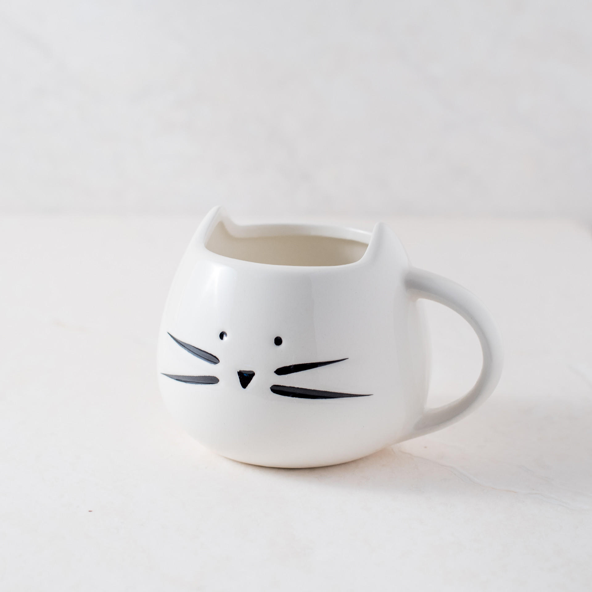 Cat White Coffee Mug from Ankit