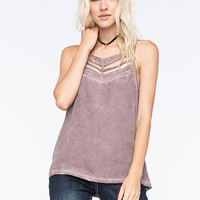 Rvca Obviously Cutout Womens Cami Slate  In Sizes