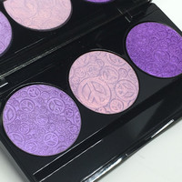 Purple Highlighter TRIO Pressed Eye & Face Highlighter Palette