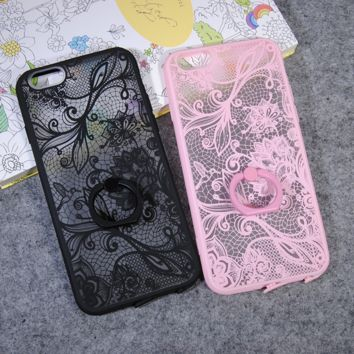 Fashion lace flower style 1 mobile phone case for iphone 5 5s SE 6 6s 6Plus 6S Plus+ Nice gift box!