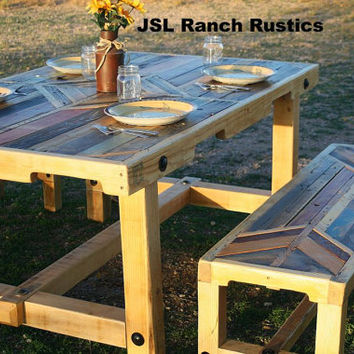 Dining Table, Pallet Table, Gathering Table, Country Dining Table, Rustic Dining Table, Rustic Decor, Farm House Table, pallet furniture