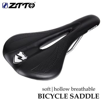 ZTTO Soft MTB Road Bike Seat Pain-Relief Thicken PU Leather Comfortable Bicycle Saddle Bicycle Parts