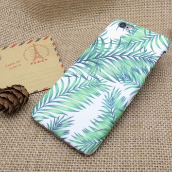 Leaf Case Cover for iPhone 7 7 Plus - iPhone 5s se - iPhone 6 6s Plus + Gift Box