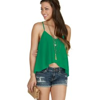Sale-green Envelope Crop Tank