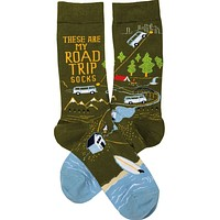 These Are My Road Trip Socks in Travel-Inspired Design