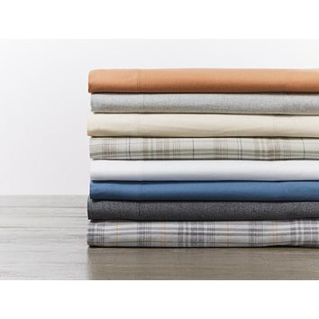 Cloud Brushed Organic Flannel Sheet Sets by Coyuchi