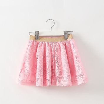 2016 Hot Sale Promotion Ruched Solid Children Clothing Pettiskirt Girls Tutu Skirt Baby Tutukids Skirts Tulle Kids Clothes Hs07