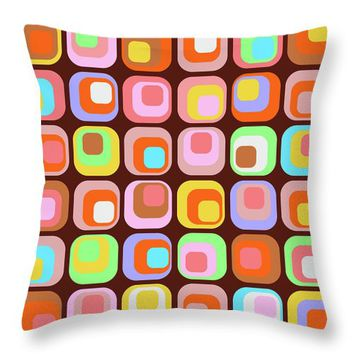 Retro 42 Throw Pillow