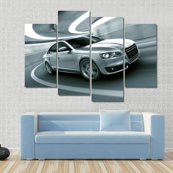 3d Rendering Of A Generic Car In A Tunnel Multi Panel Canvas Wall Art